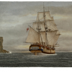 08 HMS SIRIUS leaving Port Jackson