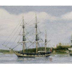 09 HMS Beagle in Sydney Cove