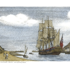 51 HMS Discovery - Pen & Ink-Wash